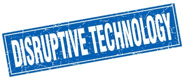 Disruptive technology stamp. Disruptive technology square grunge stamp. disruptive technology sign. disruptive technology royalty free illustration