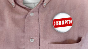 Disruptor Button Pin Change Agent Innovator Stock Image