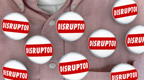 Disruptor Buttons Pins Change Agent Innovator Stock Photo