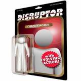 Disruptor Change Agent Action Figure Disruption. 3d Illustration Stock Photography