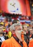 Dissapointed holländischer Verfechter während der abschließenden Abgleichung Lizenzfreie Stockfotos