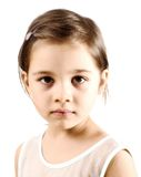 Dissapointed Little Girl. Portrait Of  A Dissapointed Little Sad Girl Royalty Free Stock Photography