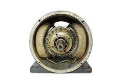 Dissasembled alter Elektromotor DCs Lizenzfreie Stockfotografie