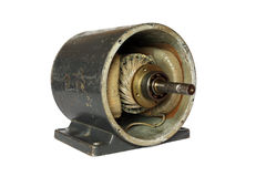 Dissasembled dc electromotor Royalty Free Stock Photo