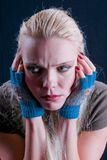 Dissatisfied. The face of dissatisfied girl Royalty Free Stock Images