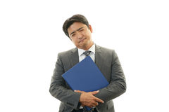 Dissatisfied Asian businessman Stock Photography