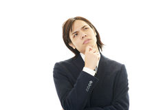 Dissatisfied Asian businessman Stock Image
