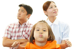 Dissatisfied Asian family Stock Images