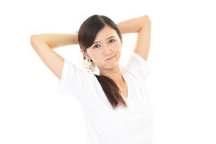 Dissatisfied Asian woman Stock Image