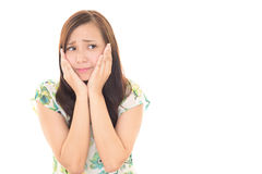 Dissatisfied Asian woman Royalty Free Stock Photo