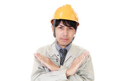 Dissatisfied Asian worker Royalty Free Stock Photo