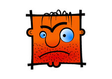 Dissatisfied avatar icon Royalty Free Stock Image
