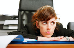 Dissatisfied business lady Stock Photography