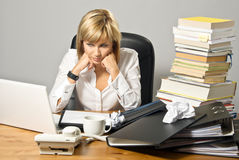 Dissatisfied Business Lady Royalty Free Stock Photo