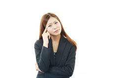 Dissatisfied business woman royalty free stock images