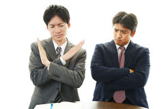 Dissatisfied businessmen Royalty Free Stock Image