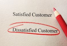 Dissatisfied customer Royalty Free Stock Image