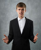 Dissatisfied and disappointed man is annoyed Royalty Free Stock Photo