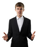 Dissatisfied and disappointed man is annoyed Stock Image
