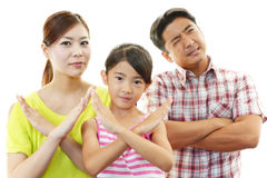 Dissatisfied family Stock Images