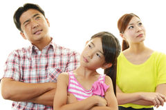 Dissatisfied family Royalty Free Stock Images