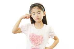Dissatisfied girl Stock Photography