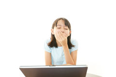Dissatisfied girl Royalty Free Stock Photography