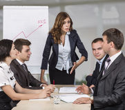 Dissatisfied manager Stock Photography