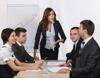 Dissatisfied manager Stock Image