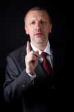 Dissatisfied mature businessman Royalty Free Stock Images