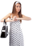 Dissatisfied model Royalty Free Stock Photography