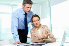 Dissatisfied with results Stock Photo