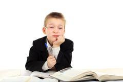 Dissatisfied schoolboy Stock Photos