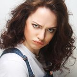 Dissatisfied young woman Stock Photography