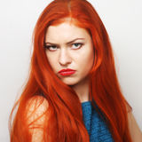 Dissatisfied young woman Stock Photo