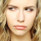 Dissatisfied young woman Royalty Free Stock Image