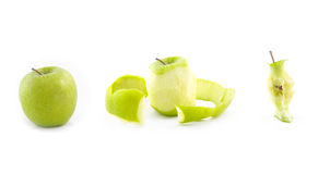 Disseção de uma maçã imagem de stock