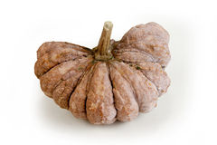 Dissect the pumpkin in longtime. On isolated white background  with clipping paths Stock Photography