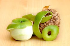 Dissected apple Royalty Free Stock Images