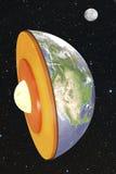 Dissection de la terre dans l'espace Photo stock