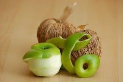 dissekerat äpple Arkivfoton