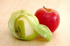 dissekerat äpple Arkivbild