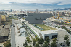 Disseny hub building. At Barcelona Stock Images