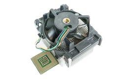 Dissipador de calor com opinião superior do processador central Imagens de Stock Royalty Free