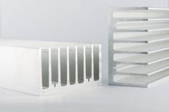 Dissipador de calor de alumínio fotografia de stock