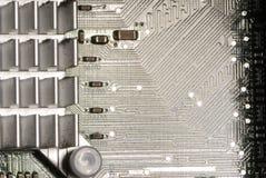 Dissipador de calor e cartão-matriz fotografia de stock