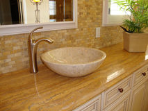Dissipador do quarto do banho Imagem de Stock Royalty Free