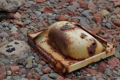 Dissipador oxidado velho foto de stock