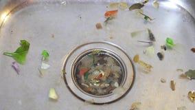 Dissipador sujo de Kichen vídeos de arquivo