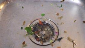 Dissipador sujo de Kichen video estoque